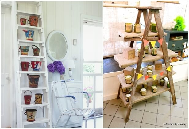 8  10 Things to Display on a Ladder Shelf That You Will Love 823