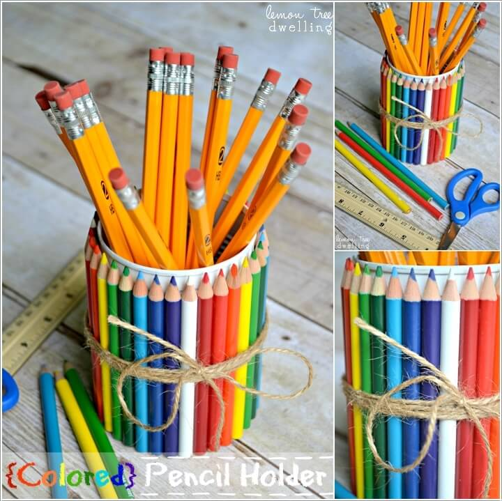 9  10 Cool DIY Pencil Holders for You to Make 926