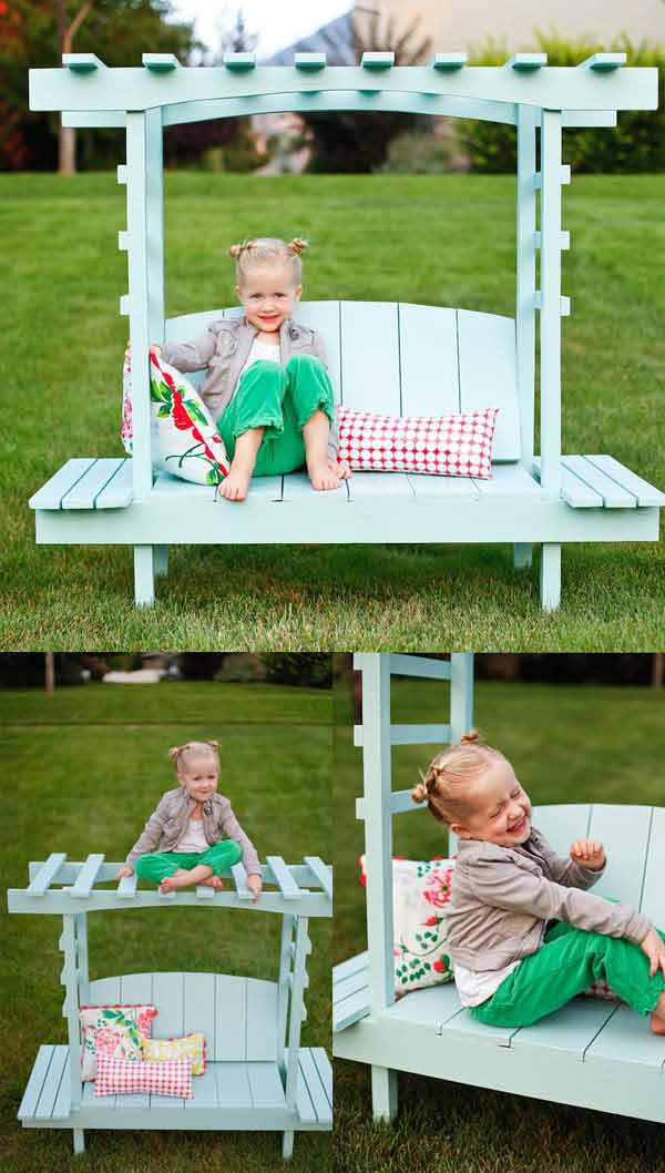 Build a children's arbor bench.