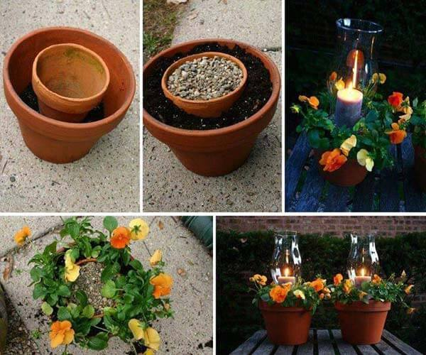 Candle Holder and Flower Pot In One