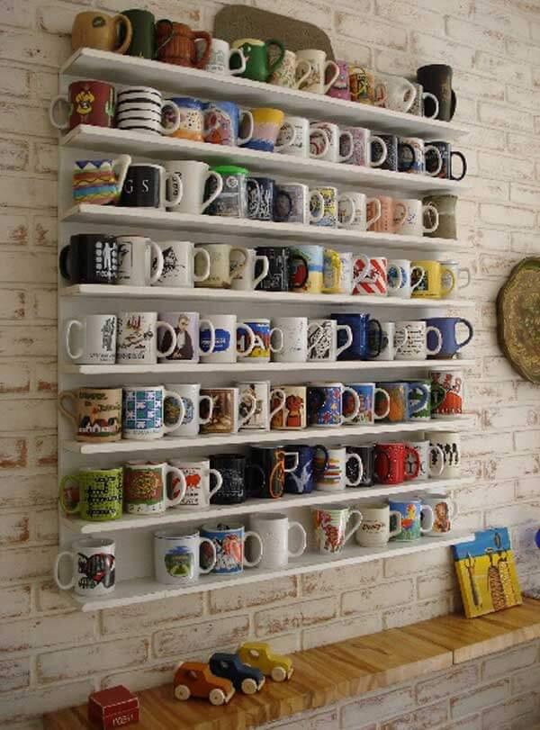 Display your mug collection like a work of art