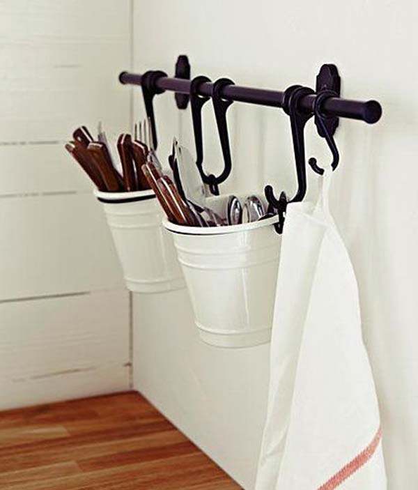 .IKEA's Fintorp basket utensil storage