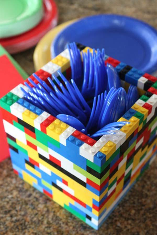 Lego Brick Utensil Holder
