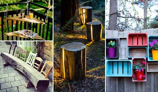 16 reclaimed wood diy project ideas for Diy outdoor decorating ideas