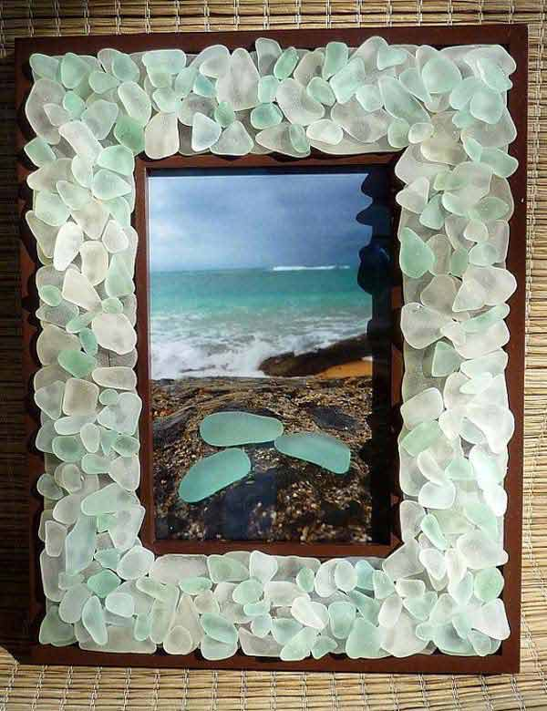 Superb Sea Glass Frame
