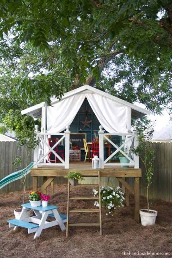 Treehouse and Tent