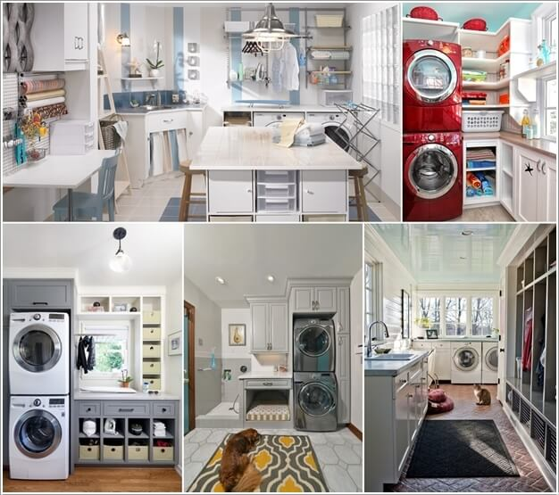Top 10 Trending Laundry Room Ideas On Houzz: 10 Clever Multipurpose Laundry Rooms That You'll Love