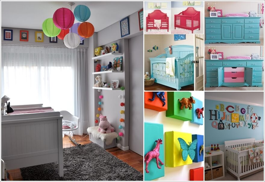 a  12 Adorable Ideas to Add Color Pops to Your Baby's Nursery a20
