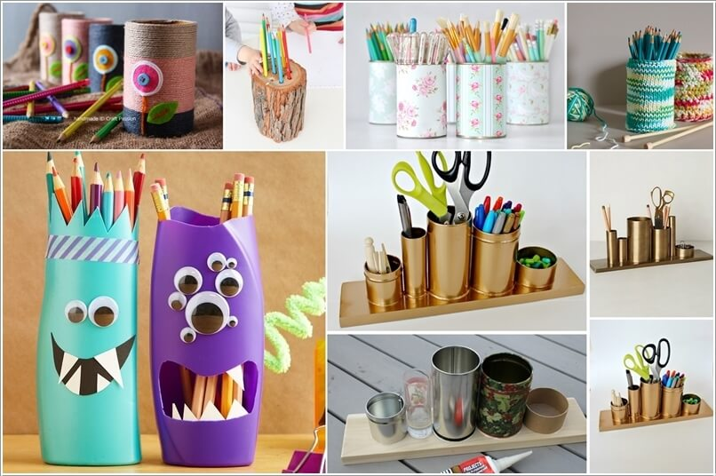 a  10 Cool DIY Pencil Holders for You to Make a27