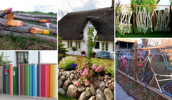 15 Superbly Creative DIY Fence Design Ideas