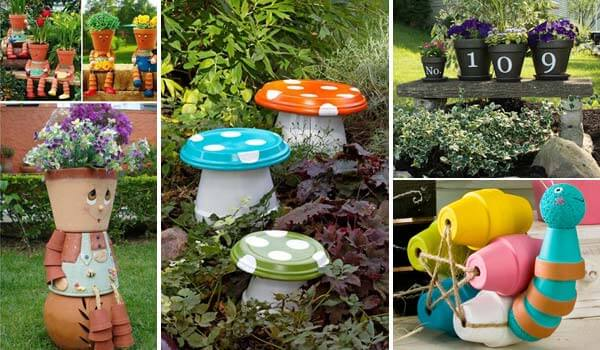 15 budget friendly cool and fun garden projects for Interesting garden designs