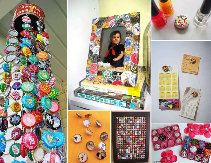 12 super cool bottle cap diy projects for you to try for Cool bottle cap designs