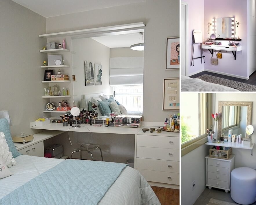 10 Cool Ideas To Add A Makeup Area To Your Bedroom
