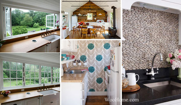 Amazing And Smart Tips For Kitchen Decorating Ideas: 15 Smart DIY Ideas For Accent Kitchen Wall