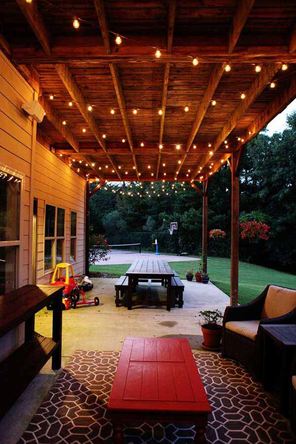15 amazing yard and patio string lighting ideas Patio and deck lighting ideas