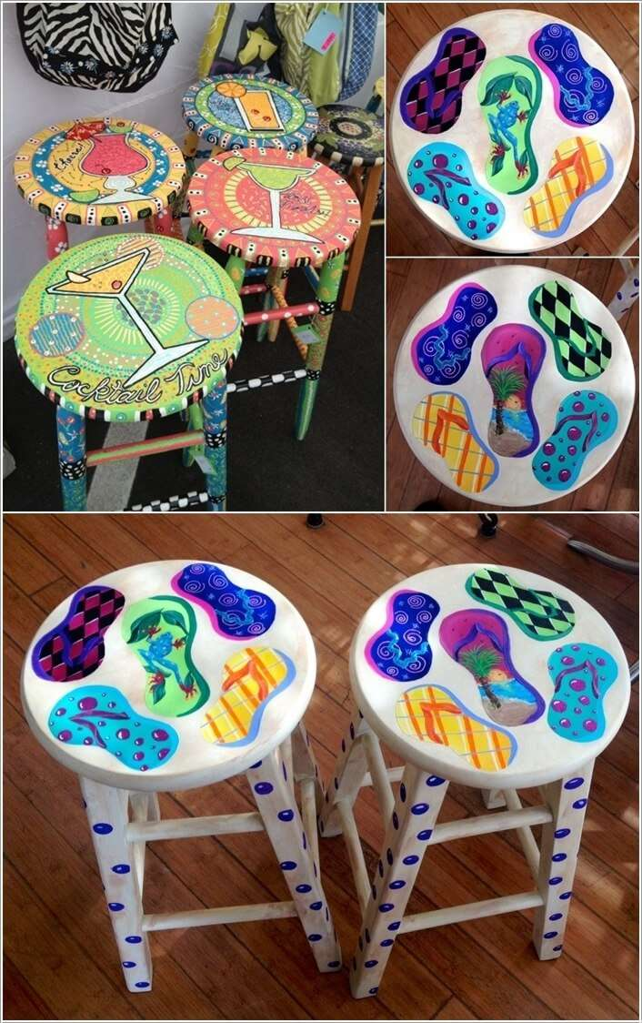 15 Clever Ideas To Recycle Old Bar Stools Interior
