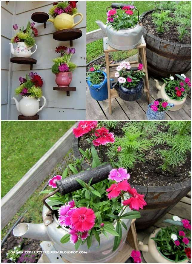 3  15 Creative Planters Made from Recycled Kitchenware 322