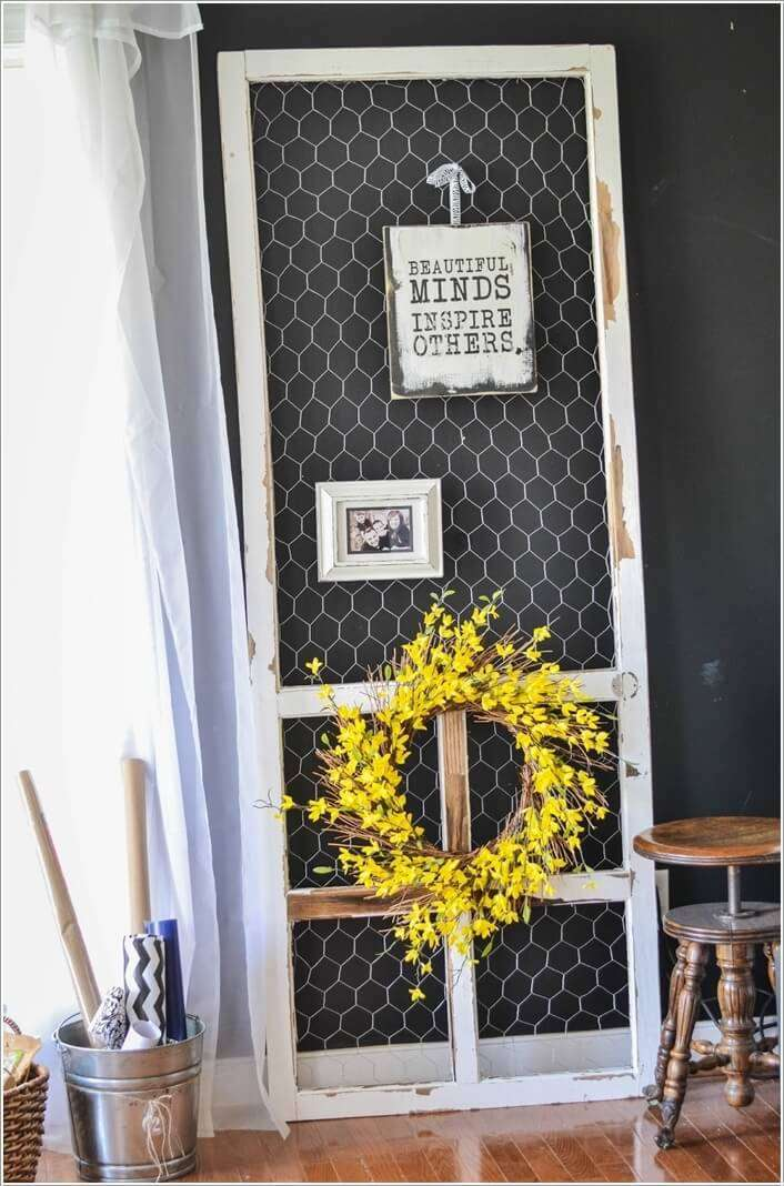 10 Clever Ways To Recycle Old Screen Doors
