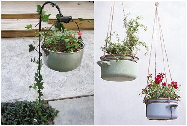 7  15 Creative Planters Made from Recycled Kitchenware 722