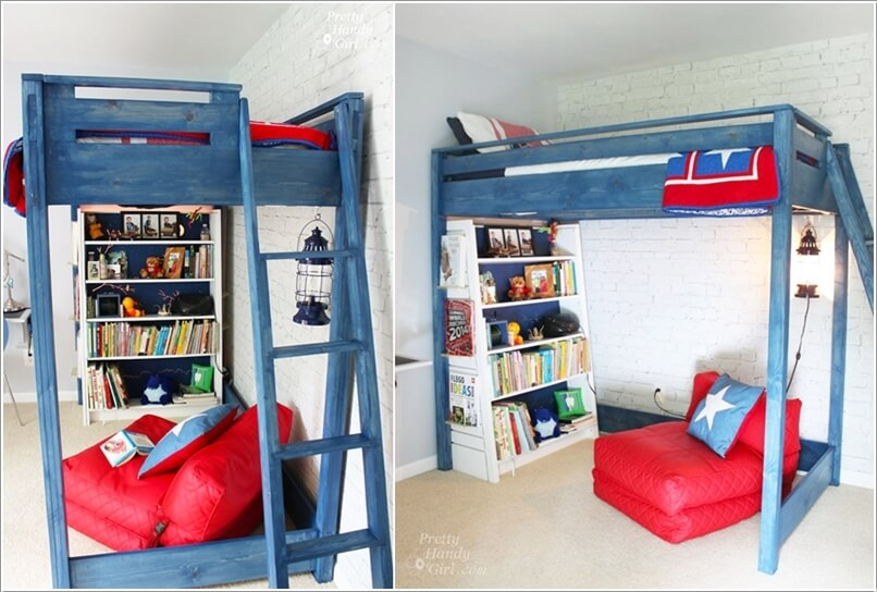 9  10 Amazing DIY Loft Bed Designs for Your Kids' Room 9
