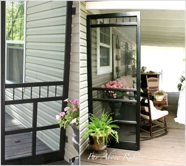 9  10 Clever Ways to Recycle Old Screen Doors 93