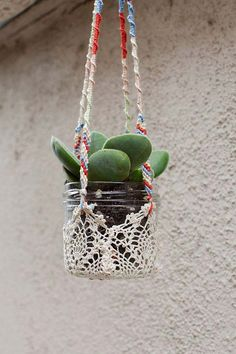 .Colorful Hanging Window Planters