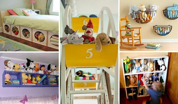 15 smart and easy diy ways to organize kid s stuffed toys