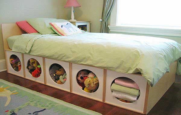 Under Bed Storage for stuffed toy