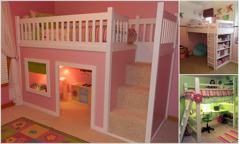 a  10 Amazing DIY Loft Bed Designs for Your Kids' Room a