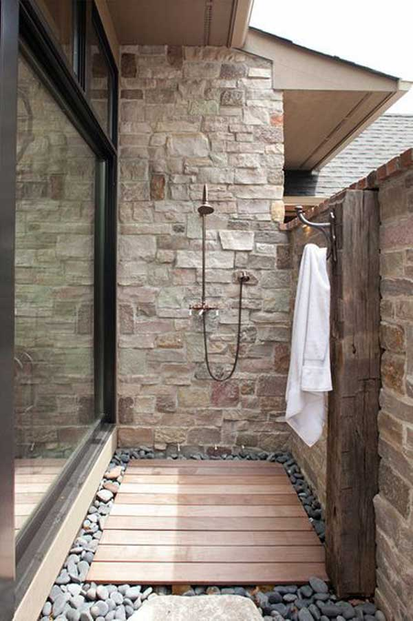 20 cool outdoor shower ideas for splashy experience. Black Bedroom Furniture Sets. Home Design Ideas