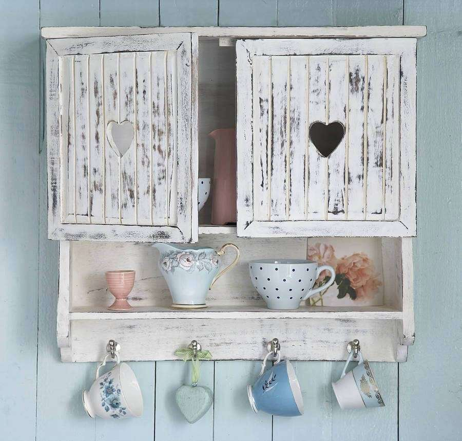 15 wonderful shabby chic home storage ideas. Black Bedroom Furniture Sets. Home Design Ideas