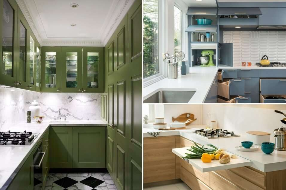 12 clever design moves for a small space kitchen for Kitchen designs small space