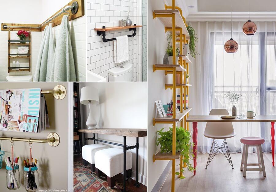 Painted Wood Towel Rack