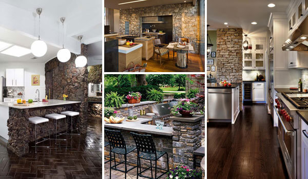 16 Smart Stone Ideas That Bring Natural Cozy Feel In The Kitchen