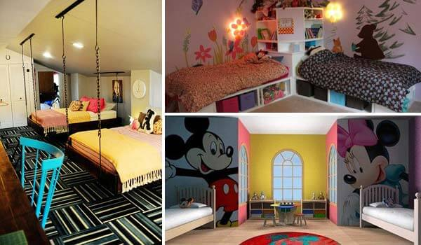 20 amazing ideas for boys and girl 39 sshared bedroom for Boy and girl bedroom designs