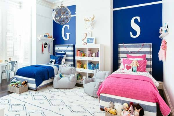 shared bedroom boy girl woohome 2. 20 Amazing Ideas for Boys and Girl sShared Bedroom