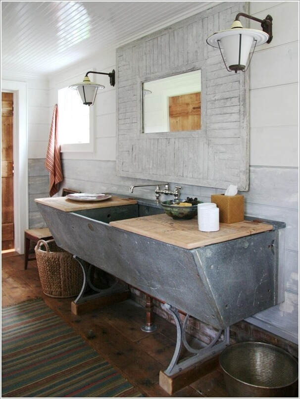 Diy Bathroom Vanity Inside 20 Upcycled And One Of A Kind Bathroom Vanities Diy Bathroom