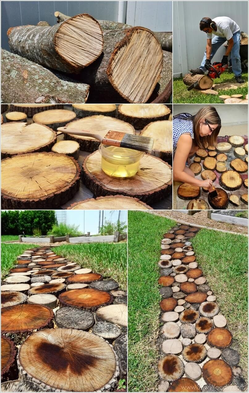 15 ideas to decorate your garden with a fallen tree or logs