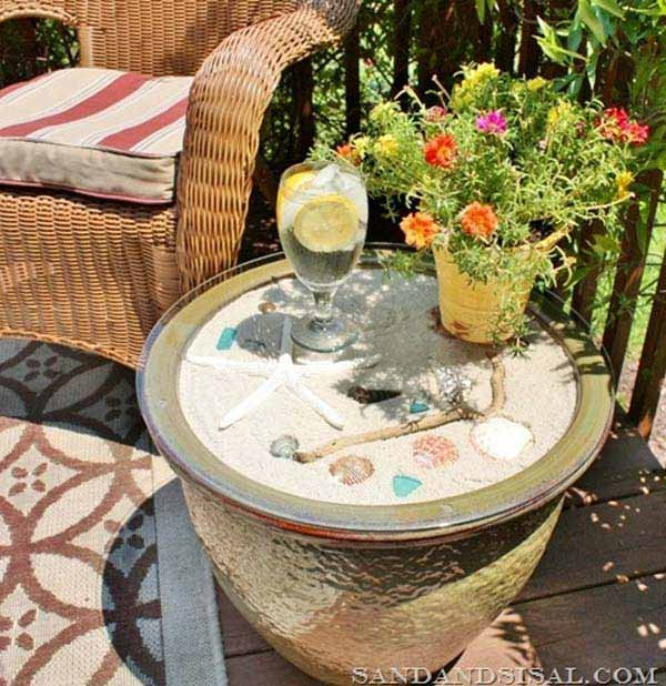 Beach Pottery Ideas: 15 Awesome Beach-Style Outdoor DIY Ideas For Your Porch & Yard