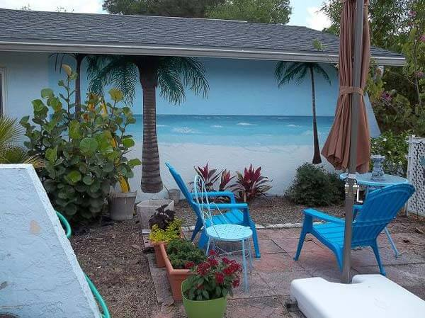 15 awesome beach style outdoor diy ideas for your porch yard for Beach mural ideas