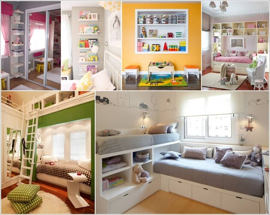 12 clever small kids room storage ideas - Storage For Small Spaces Rooms
