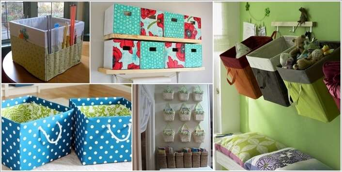 a  15 Awesome DIY Storage Bins for You to Make a22