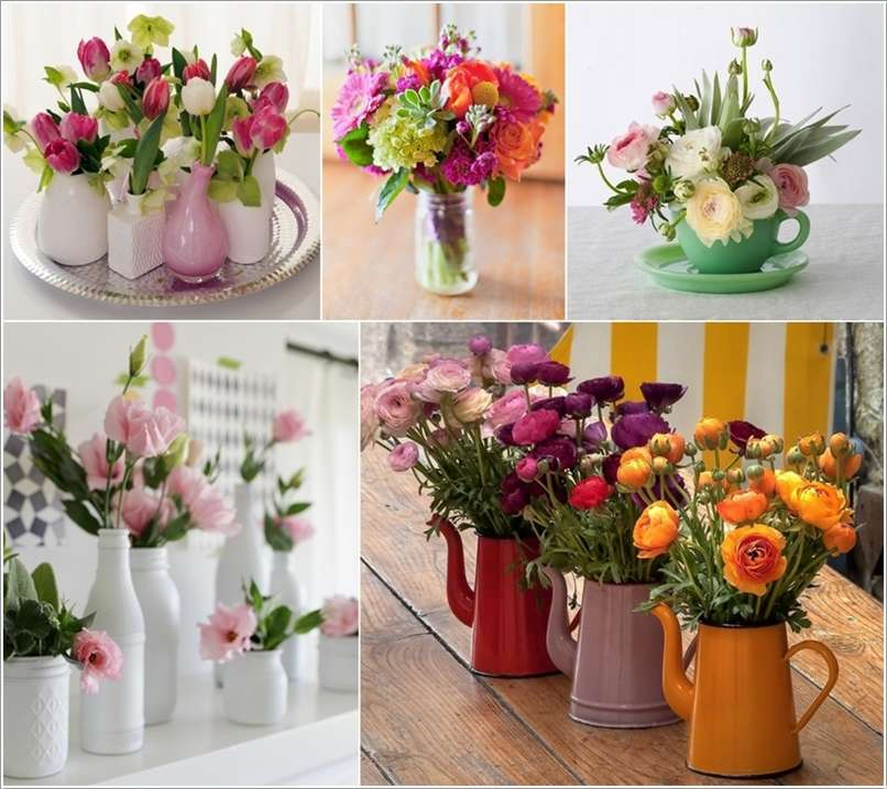 12 Beauteous Recycled Flower Vase Ideas