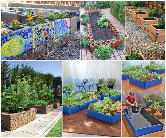 a  15 Stylish Raised Bed Ideas for No Grass Outdoor Areas a32