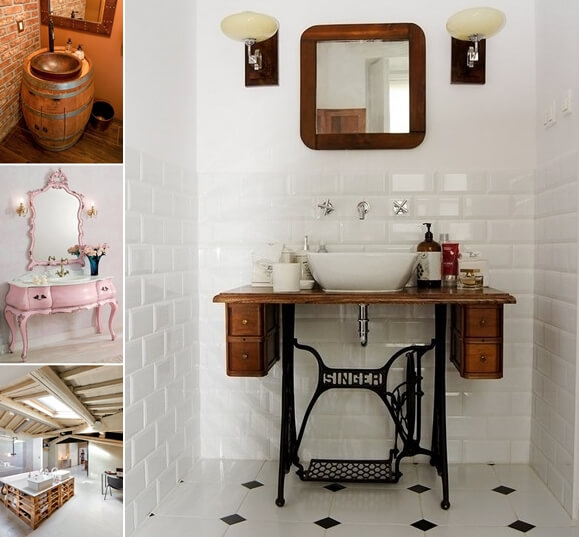 12 Amazing Recycled Material Bathroom Vanity Ideas