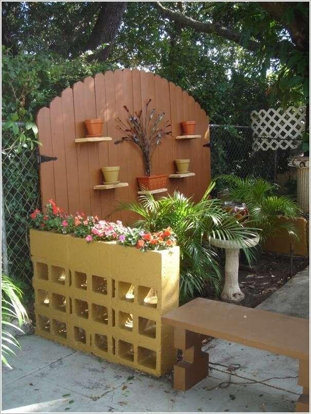 10 Awesome Ideas to Design a Cinder Block Garden on Backyard Cinder Block Wall Ideas id=70173
