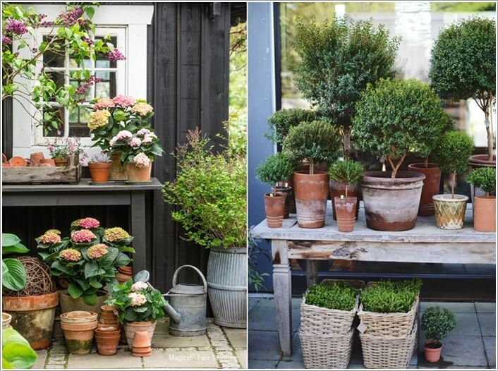 13 amazing outdoor terracotta pot display ideas - Outdoor tuinieren ...