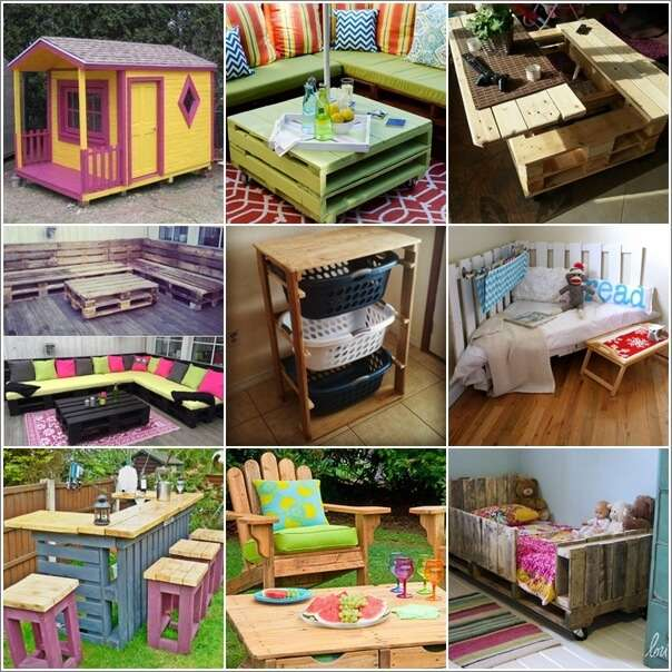 30+ Creative and Cool DIY Pallet Furniture Ideas