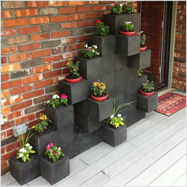 Image Via: Mydesiredhome. 2. Make A Unique Concrete Block Bench Garden ...