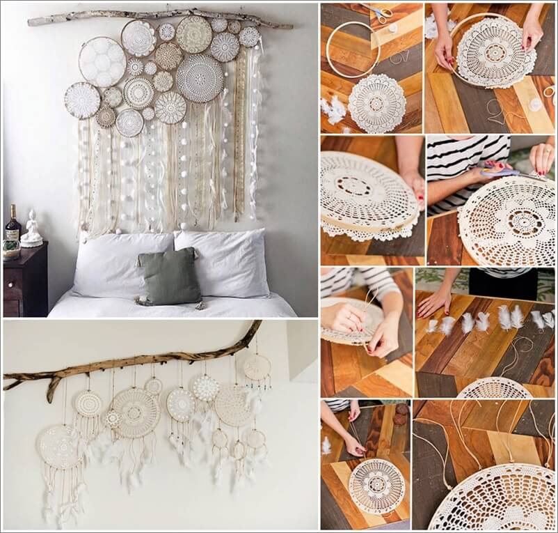 Make This Beautiful Doily Dream Catcher For Your Bedroom Magnificent How To Make Doily Dream Catchers